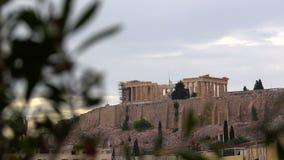 Le temple de parthenon sur l'Acropole clips vidéos