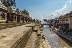 Le temple de Pashupatinath, temple hindou sacré célèbre a consacré à la PA photo libre de droits