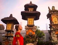 Le temple de Taman Ayun est un temple royal d'empire de Mengwi situé dans Mengwi, la régence de Badung qui est les endroits célèb image stock