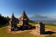 Le temple de troisièmement, quatrième et cinquième de Gedongsongo image libre de droits