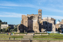 Le temple de Vénus et de Rome à Rome, Italie Images libres de droits