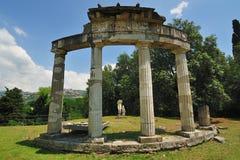 Le temple de Venus en villa de Hadrian, Tivoli - Rome Photographie stock libre de droits