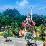 Le temple de Wat Chalong Images stock