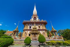 Le temple de Wat Chalong Buddhist dans Chalong, Phuket, Thaïlande images stock