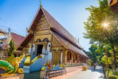 Le temple de Wat Phra Singh est un temple bouddhiste situé dans Chiang Rai, Thaïlande du nord photos libres de droits