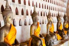 Le temple de Wat Si Saket d'image de Bouddha est un temple bouddhiste antique à Vientiane image libre de droits