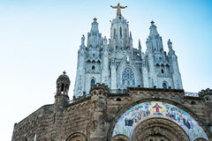 Le temple del Sagrat Cor, Barcelone L'Espagne 2016 Photos stock