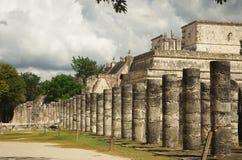 Le temple des guerriers dans Chichen Itza, Mexique Image stock
