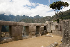 Le temple des trois Windows - Machu Picchu - Pérou Photos stock