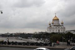 Le temple du Christ le sauveur à Moscou photo stock
