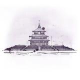 Le temple du Ciel, édifice de Taoist placé dans Pékin illustration de vecteur