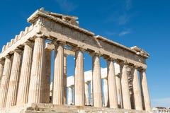 Le temple du parthenon à la roche sacrée de l'Acropole de image libre de droits