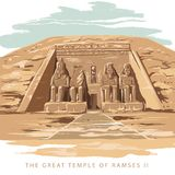 Le temple grand chez Abu Simbel, Egypte illustration stock