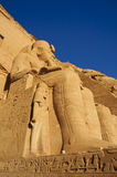 Le temple grand d'Abu Simbel (Nubia, Egypte) Images stock