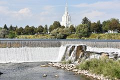 Le temple mormon chez l'Idaho tombe en Idaho Photos libres de droits
