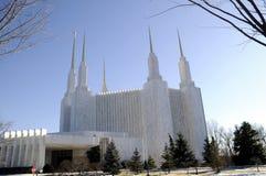 Le temple mormon dans Kensington, le Maryland image libre de droits