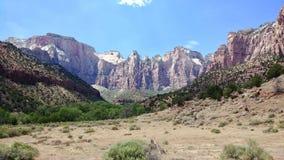 Le temple occidental chez Zion National Park Photographie stock libre de droits