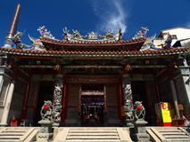 Le temple officiel de Mazu Image libre de droits