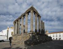 Le temple romain à Evora, Portugal photographie stock