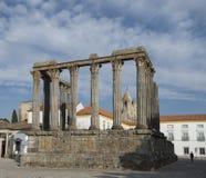 Le temple romain à Evora, Portugal photo stock