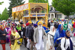 Le temple sikh local Photo stock