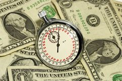 Le temps, c'est de l'argent photographie stock libre de droits