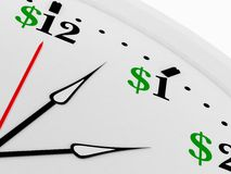 Le temps, c'est de l'argent illustration libre de droits