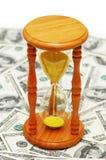 Le temps, c'est de l'argent avec le No. du dollar Image libre de droits