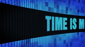 Le temps, c'est de l'argent panneau latéral de signe de panneau d'affichage de mur du défilement LED des textes banque de vidéos