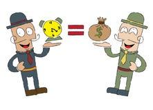 Le temps, c'est de l'argent, position jumelle illustration libre de droits