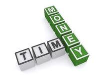 Le temps, c'est de l'argent signe illustration libre de droits