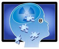 Le temps d'écran endommage le cerveau des enfants illustration libre de droits