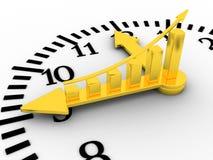 Le temps est or (argent). Horloge de Golen. Image libre de droits