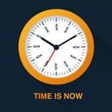 Le temps est maintenant concept Illustration de symbole de montre sur le fond foncé Gestion du temps Images libres de droits