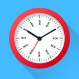 Le temps est maintenant concept Illustration de symbole de montre sur le fond foncé Gestion du temps Image libre de droits