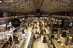 Le temps lancent la photo sur le marché de soirée de Lisbonne Portugal Photos libres de droits