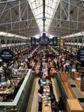 Le temps lancent sur le marché, Lisbonne, Portugal Images libres de droits