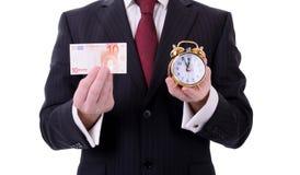 Euro temps Image libre de droits