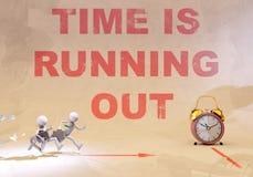 Le temps s'épuise, le rendu 3d illustration libre de droits