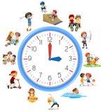 Le temps se rapportent avec l'activité illustration libre de droits