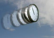 Le temps vole Images libres de droits
