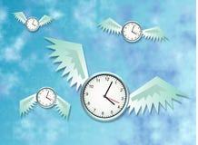 Le temps vole Photo stock