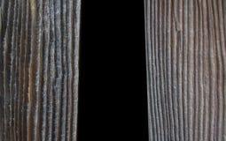 Le tende di legno d'annata di lerciume marrone naturale anneriscono il backgr della finestra immagini stock libere da diritti