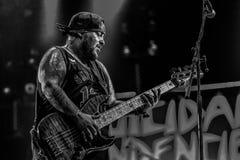 Le tendenze suicide, Ra Diaz vivono di concerto 2017 Fotografia Stock