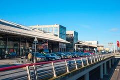 Le terminal à l'aéroport de Hambourg Photographie stock libre de droits