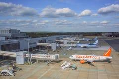 Le terminal du nord de l'aéroport de Gatwick Image libre de droits