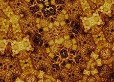 Le terracota de fractale structure le modèle (l'ornement de Terracota) Image libre de droits