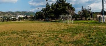Le terrain de football a propably employé pour la formation photos stock