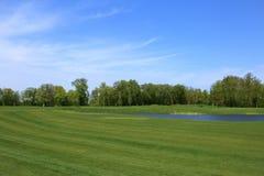 Le terrain de golf Photographie stock libre de droits