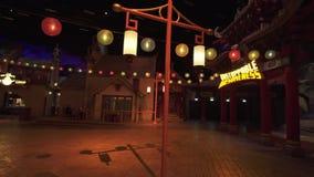 Le territoire du panda de kung-fu d'amusement à DreamWorks dans Motiongate aux parcs de Dubaï et les stations de vacances stocken banque de vidéos